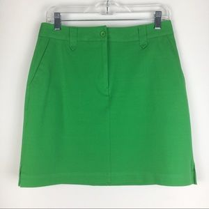 EP Pro Solid Kelly Green Golf Skirt Skort Size 6
